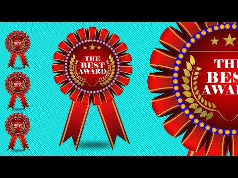 Coreldraw x7 Tutorial -- How To Make Vector The Best Award Design by Design Center