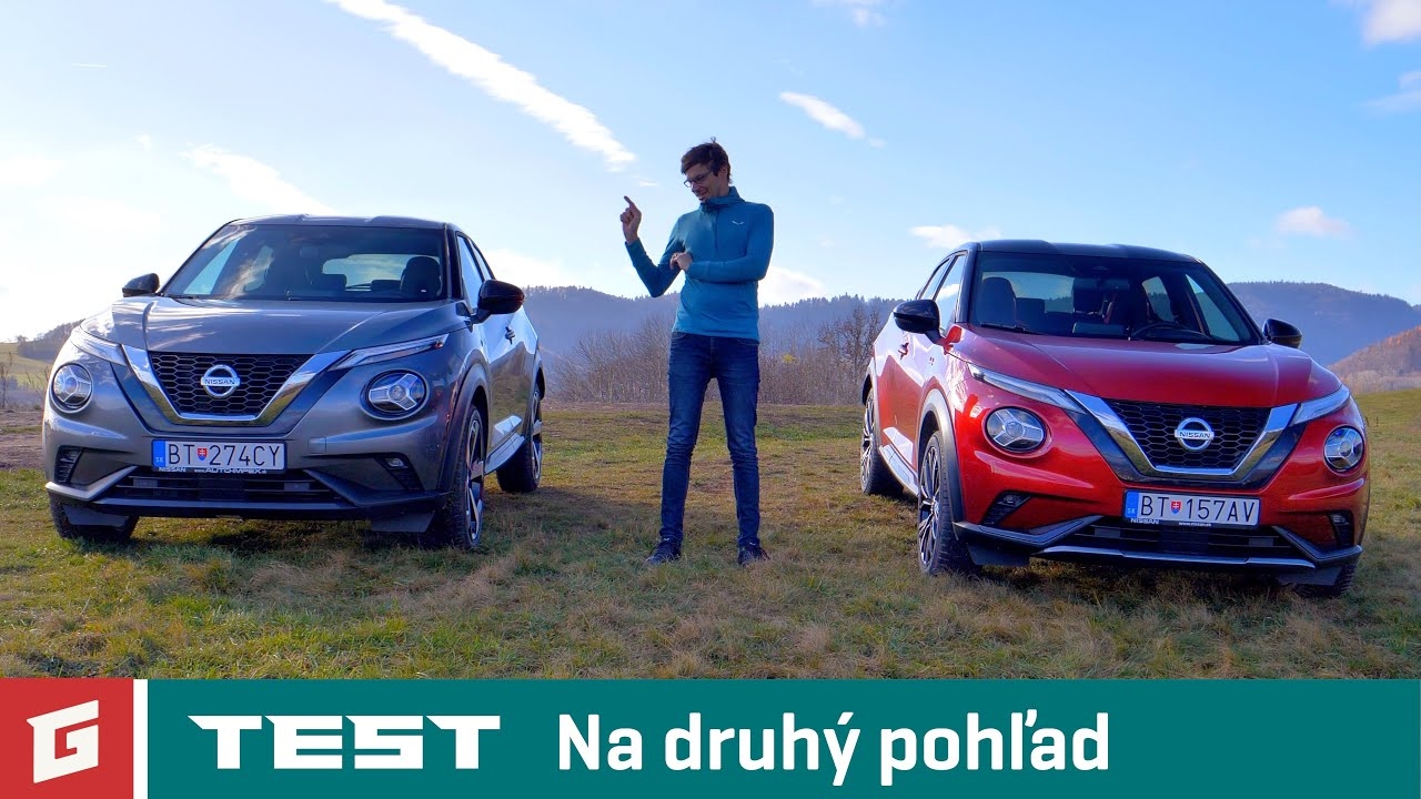NISSAN JUKE 1.0 DIG-T N-DESIGN 6MT a TEKNA 7AT - TEST - GARÁŽ.TV - Šulko