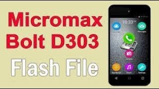 How To Micromax D303 Flash 100 Working
