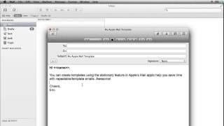 Wie erstellen Sie Apple Mail Vorlagen
