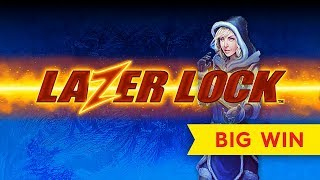 Lazer Lock Ice Sapphire Slot - NICE SESSION, ALL FEATURES!