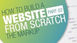 Wie Sie eine Webseite Erstellen - Kompletten workflow | Teil 02: Die Markup - #HTML