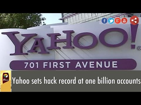 Yahoo sets hack record at one billion accounts