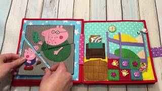 Peppa pig quiet book, Quiet book for toddlers, Busy book, Activity Book,Travel Toy