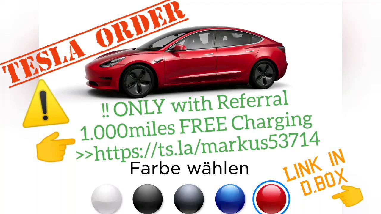 Configure Tesla order Model 3: ONLY 1000miles FREE ...