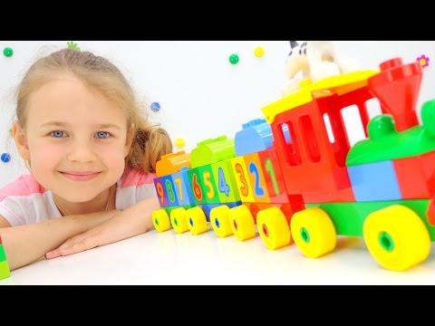 Конструктор LEGO DUPLO Поезд. Лего игры для детей и ЦИФРЫ. Ксюша Дети и Родители