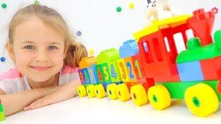 Конструктор LEGO DUPLO Поезд. Лего игры для детей и ЦИФРЫ. Ксюша Дети и Родители(Любишь смотреть мультики про поезда? Смотри видео для детей про Лего игры для детей! Собери конструктор..., 2016-06-23T08:29:52.000Z)