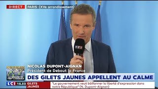 Plainte de C.Castaner: Nicolas Dupont-Aignan réagit en direct sur LCI
