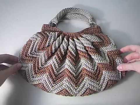 Вязание крючком узор зигзаг видео сумка