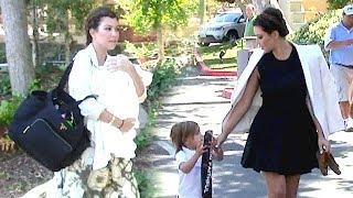 Kim And Kourtney Kardashian Go To Church With Penelope And Mason [2012]