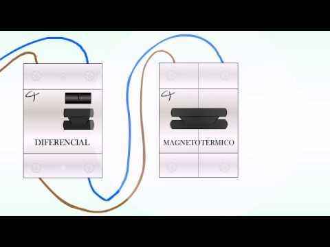 Como instalar un diferencial y o magnetotermico tutorial for Diferencial rearme automatico