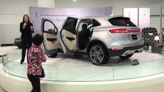 caitlyn mccabe presenting the 2015 lincoln mkc at the san francisco auto show