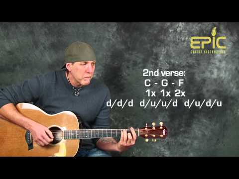 Learn Train Drops Of Jupiter acoustic guitar lesson with chords ...