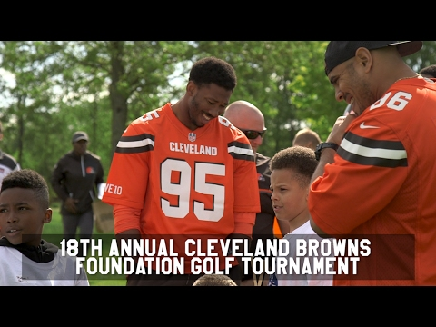 Myles Garrett, David Njoku and more host Dawg Pound Games at Browns' annual golf tournament (video)