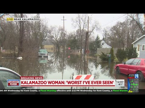 People rescued from homes along Kalamazoo River