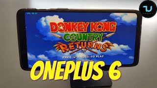 OnePlus 6 Donkey Kong Country Returns Gameplay Wii emulator Snapdragon 845 Dolphin latest version