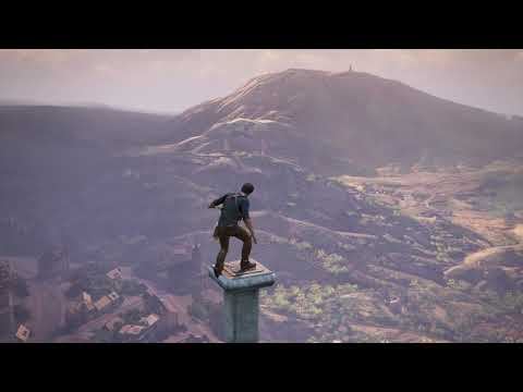 Uncharted™ 4: A Thief's End  at the top of clock tower