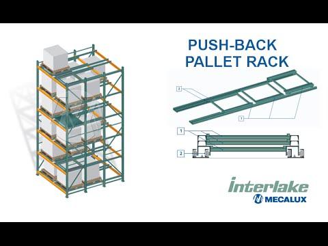 push back rack system interlake mecalux