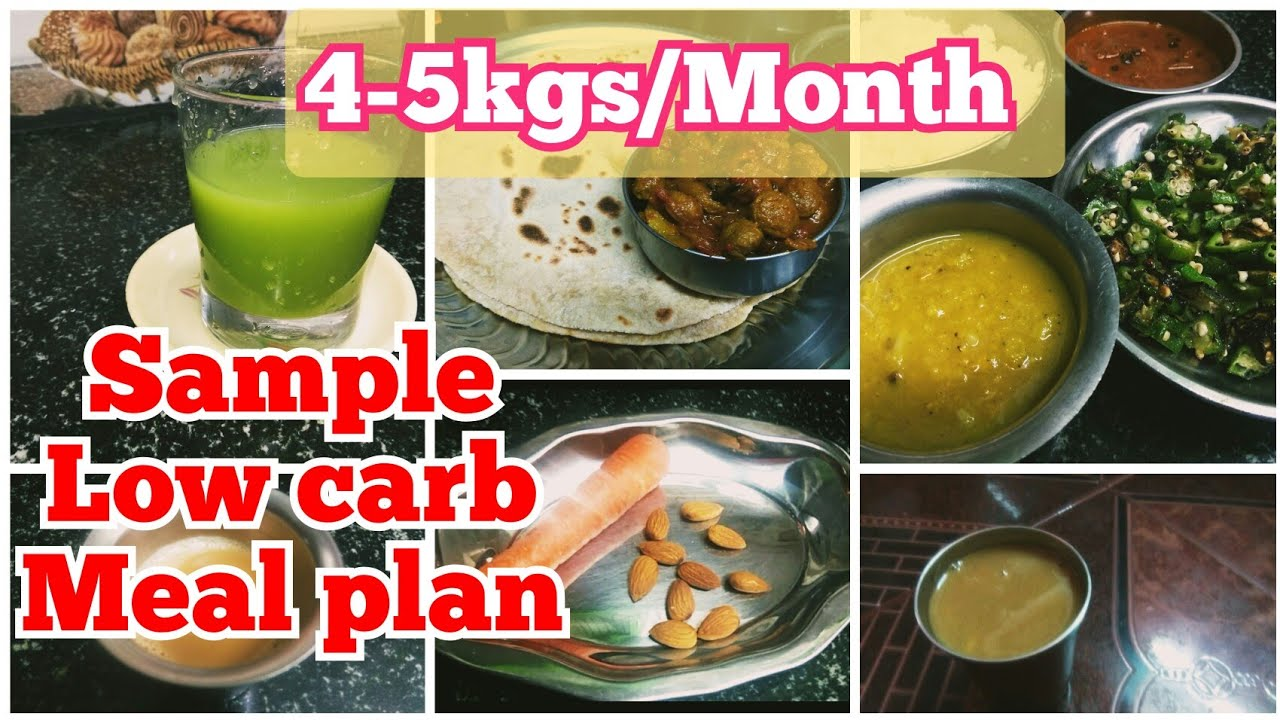 One day sample meal plan/low carb diet meal plan/Weight ...