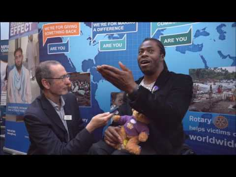 Dave King interviews Ade Adepitan at Rotary GBI Conference