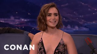 Lily Collins: I Want To Be A Master-Baker!  - CONAN on TBS