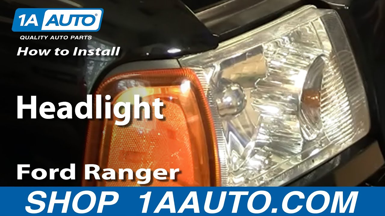 How To Install Replace Headlight Ford Ranger 01-10 1AAuto ...