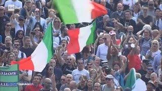 Manifestazioni a Roma - Cartabianca - 12/10/2021