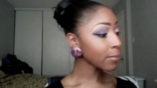 Gold and Purple smokey eye look Thumbnail