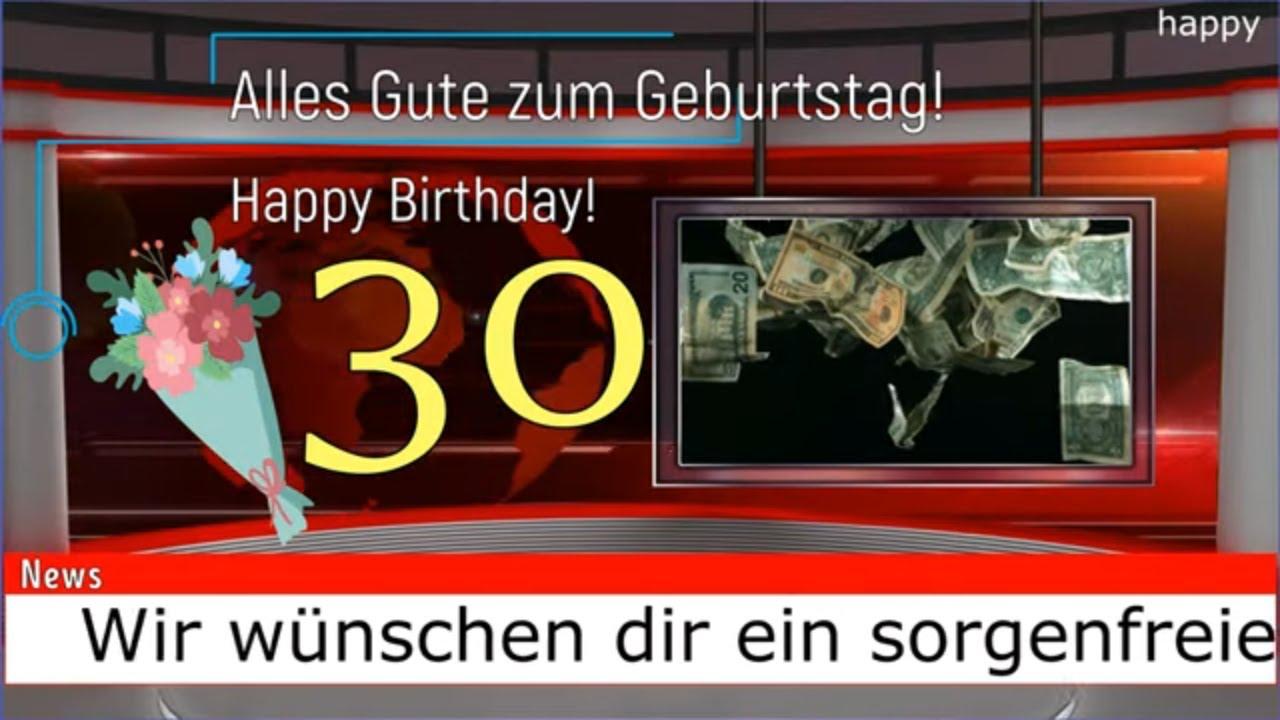 Geburtstagswünsche 30 ᐅ Sprüche