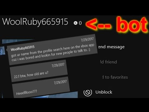 A bot messaged me on xbox ( It went 0-100!! )