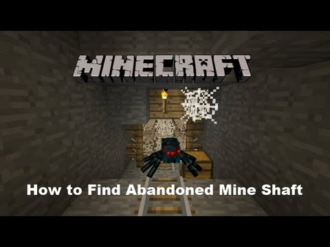 Minecraft: How to Find Abandoned Mine Shaft - YouTube