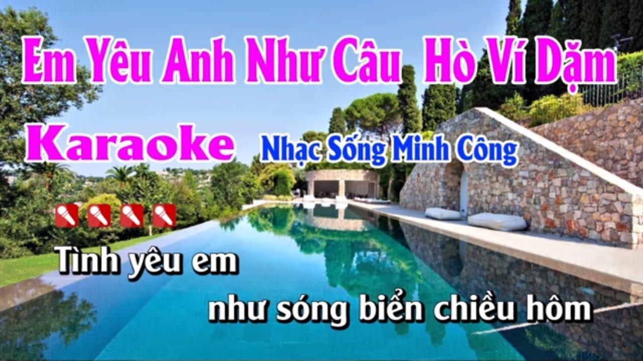 Em Yêu Anh Như Câu Hò Ví Dặm Karaoke Nhạc Sống Hay Nhất - Beat Nữ