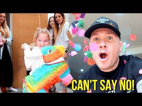 DAD CONTROLS THE DAY!! *Family Can't Say NO for 24 Hours!! - Dad V Girls