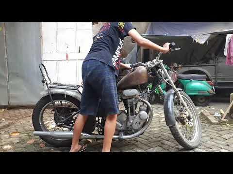 How to kick start Ajs england motor. Bagaimana start motor inggris ajs