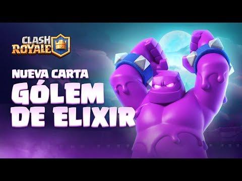 Clash Royale en Español: NUEVA CARTA - ¡GÓLEM DE ELIXIR! Presentando la Temporada 4