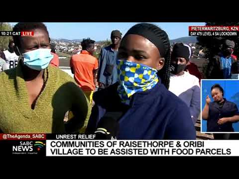 Several organisations of goodwill give food parcels to communities in Pietermaritzburg
