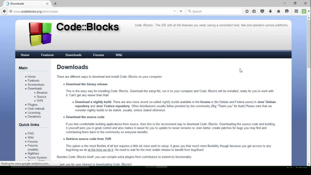 How to install code::blocks on windows 10 youtube.