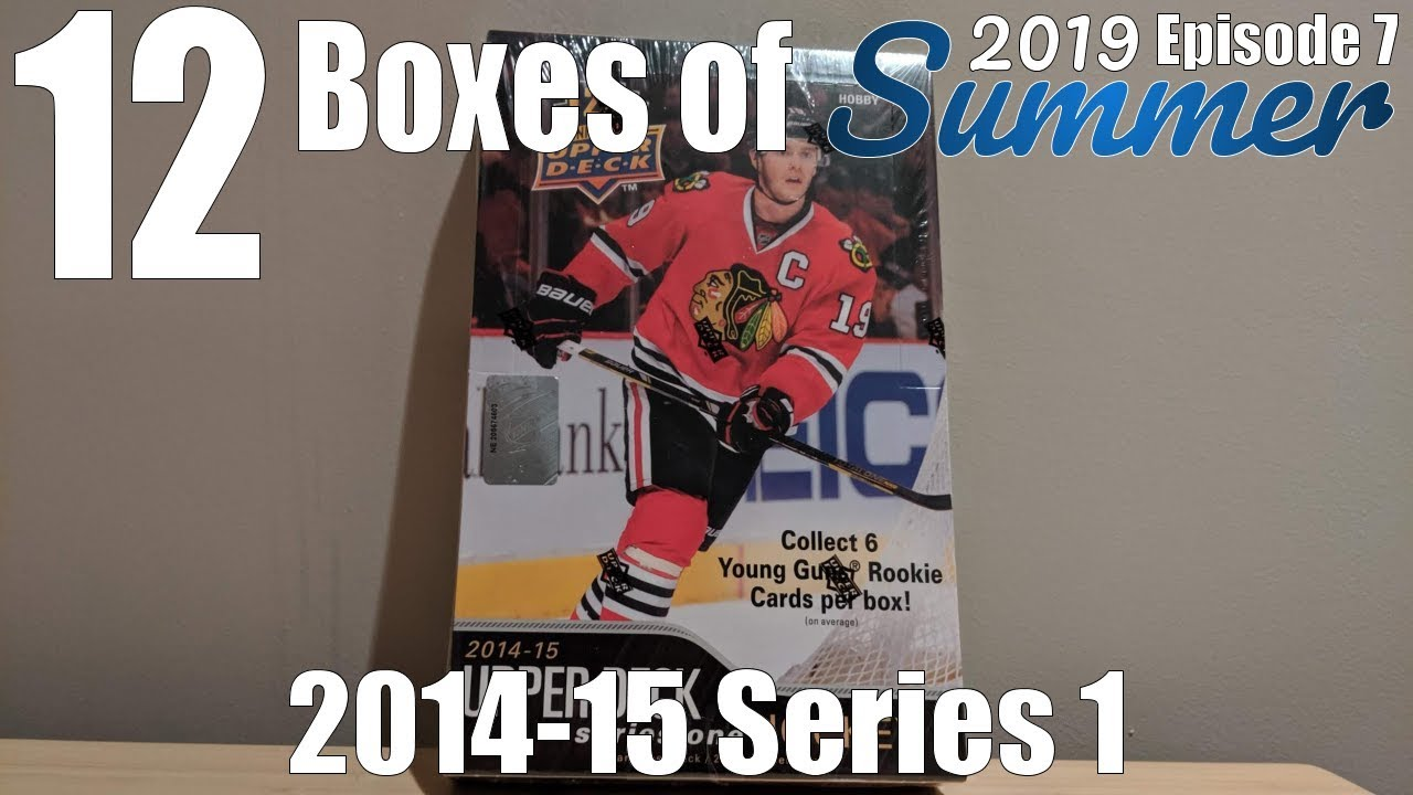 12 Boxes Of Summer Day #7 | 2014-15 UD Series 1 Hockey Hobby Box Break!