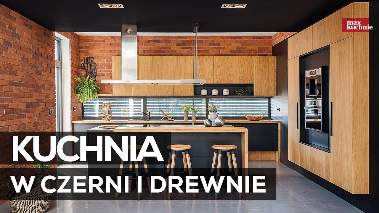 Kuchnia W Czerni I Drewnie Max Kuchnie Studio Mebli Vigo Trzebinia