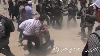 Israel fuck force beat the innocent girl.