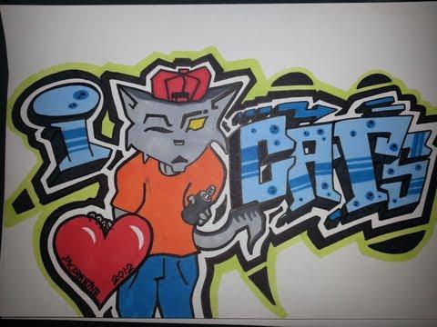 I Love Music Graffiti