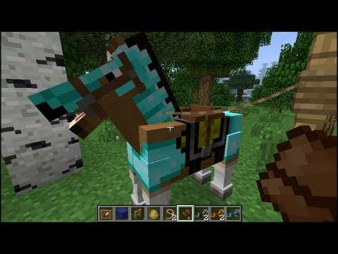 Minecraft: Horses! (Tutorial, Crafting Recipes, Taming) - YouTube