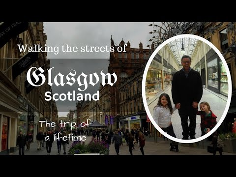 Exploring the Historic Streets of Glasgow Scotland with kids