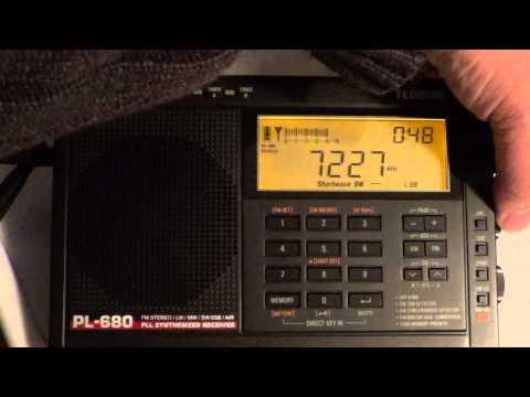 Tuning The 40 Meters Amateur Radio Band On New Tecsun PL 680 Shortwave Radio In LSB