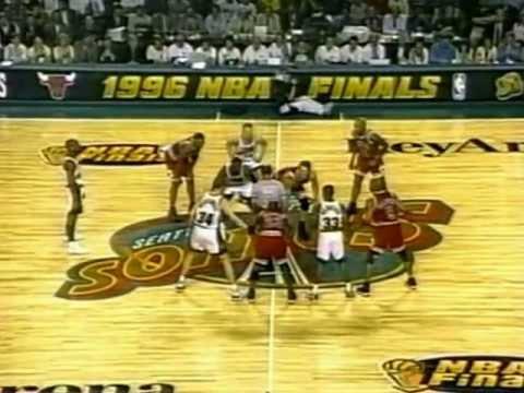 Gary Payton Guards Michael Jordan (23pts, 6/19 FG) ('96 Finals, Game 4)