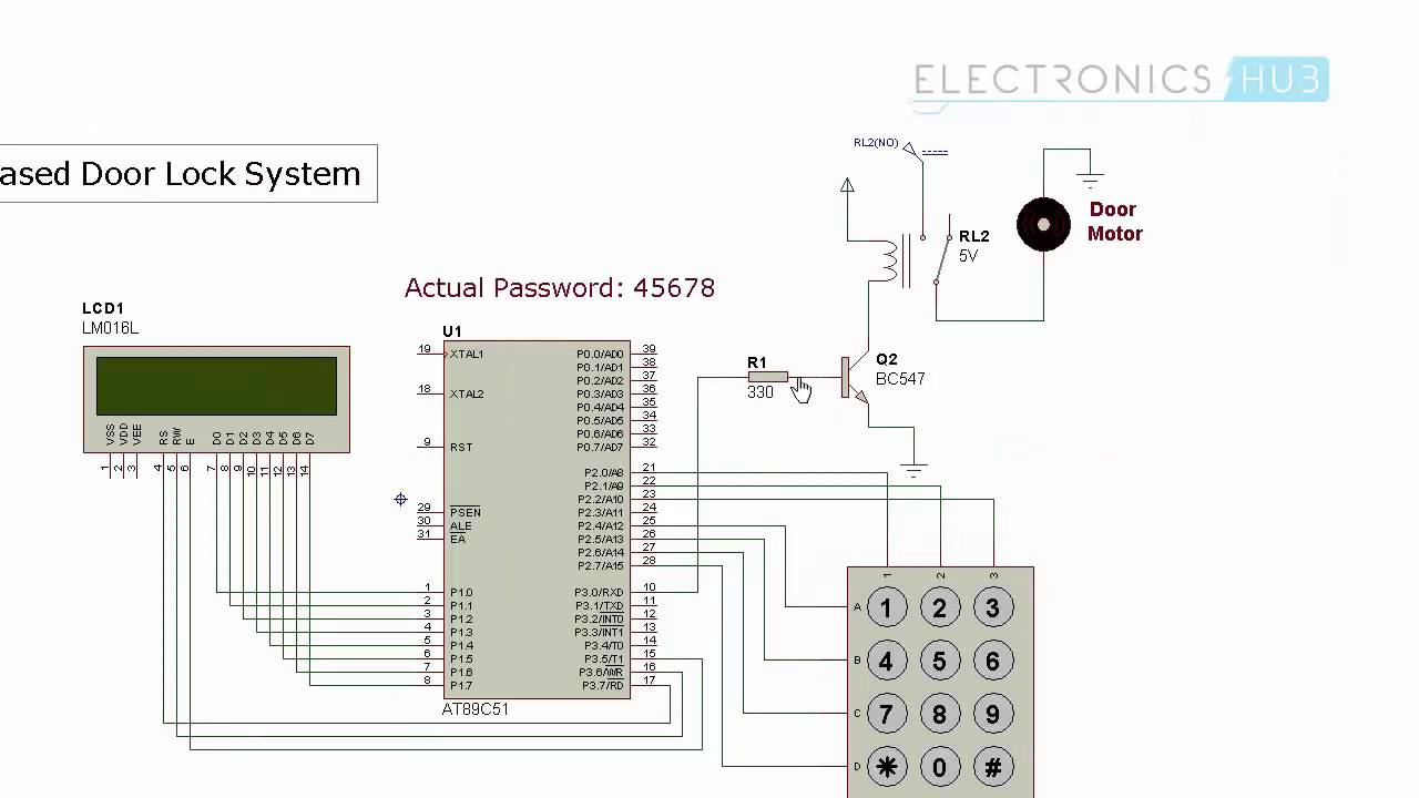 8051 Microcontroller Circuit Diagram At89s52 Circuit Diagram