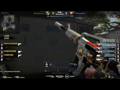 CS GO TaZ HIGHLIGHT Atlanta 2017 MAP 2 COBBLESTONE  HD SK Gaming VS Virtus.PRO