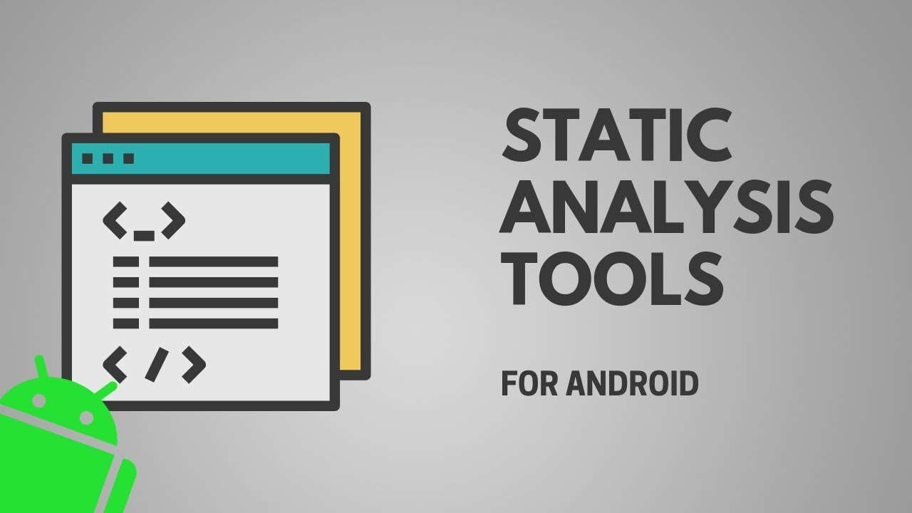 Static Analysis Tools for Android - YouTube
