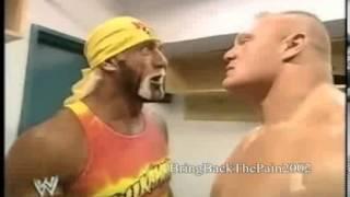 Hulk Hogan vs Brock Lesnar segment