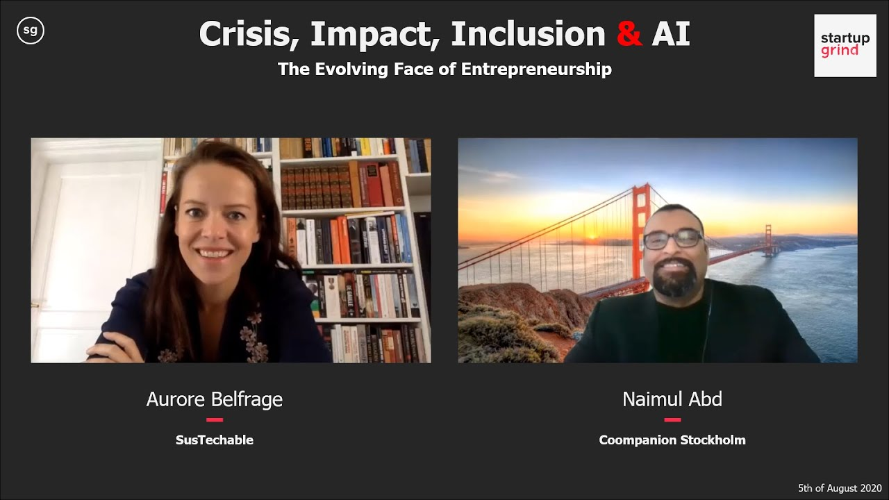 Aurore Belfrage (SusTechable) - Crisis, Impact, Inclusion & AI
